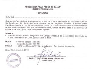 Asociación San Pedro de Cajas