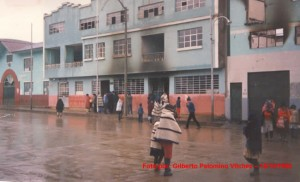 Foto, muestra la Municipalidad D. San Pedro de Cajas